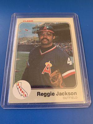 Photo Legendary-Reggie Jackson MLB - Angeles 😇 1983 Fleer card 93 original