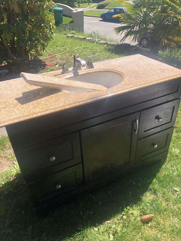 Bathroom Granite Vanity 48 inches long for Sale in Seattle ...