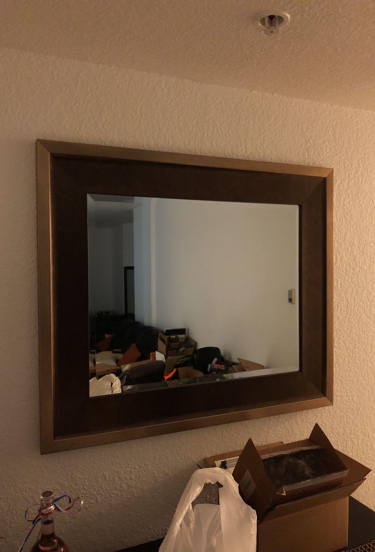 37 1/2 x 31 1/2 hanging mirror