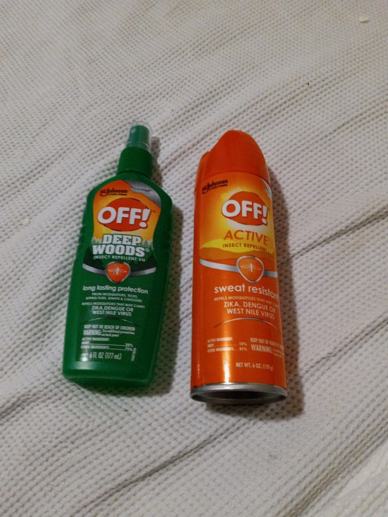 OFF BUG& INSECT REPELLENT.  SC JOHNSON CO.DEEP WOODS/SWEAT RESISTANT