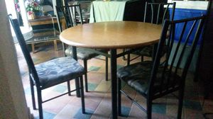 Solid wood dining table with chairs for Sale in Silver Spring, MD