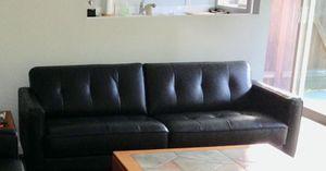 DANIA Black Leather Sofa for Sale in Bellevue, WA