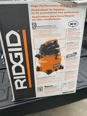 Photo Ridgid shop vacuum wet and dry with to many accessories new never used $95