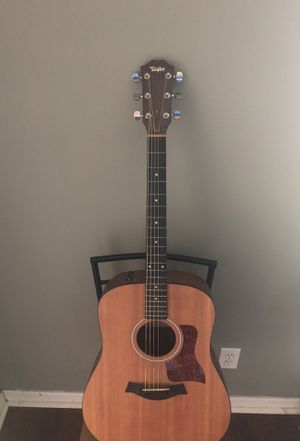 Taylor electric acoustic guitar, stand, case, cord, and fender amp for Sale in Orlando, FL