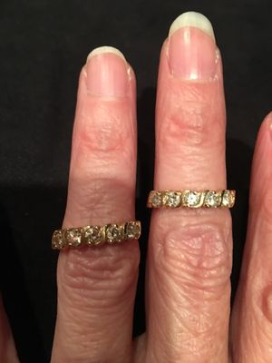 Wedding bands total 1.00CT yellow gold for Sale in Gambrills, MD