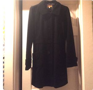 Long black Tulle pea coat for Sale in Nashville, TN