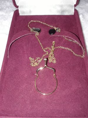 Charm Holder 14K Gold and chain for Sale in Frederick, MD