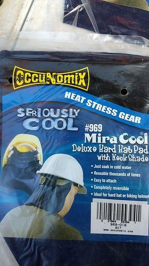 Photo Hard hat cooling pad with neckshade