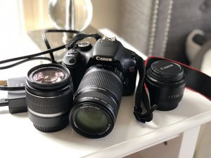 Canon EOS T2I Camera with Lenses for Sale in West McLean, VA