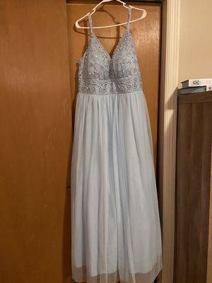 Photo Baby Blue Ball Gown Prom Dress