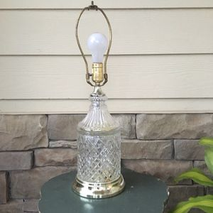 """Antique Vintage Crystal Clear Lamp Base Ornate 22"""" tall x 7"""" wide at Base for Sale in Atlanta, GA"""