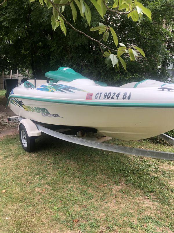 2000 seadoo challenger jetboat with trailer