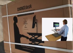 CHANGEdesk Mini Standing Desk Conversion for a a laptop or an iMac or a keyboard and monitor - new sealed in box located near North Hollywood for Sale in Los Angeles, CA