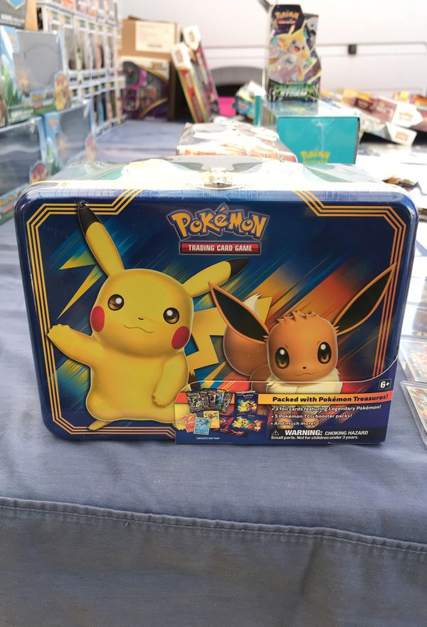 Pokemon cards Pikachu Eevee Collection Box Lunch Box for Sale in Lakewood,  CA - OfferUp