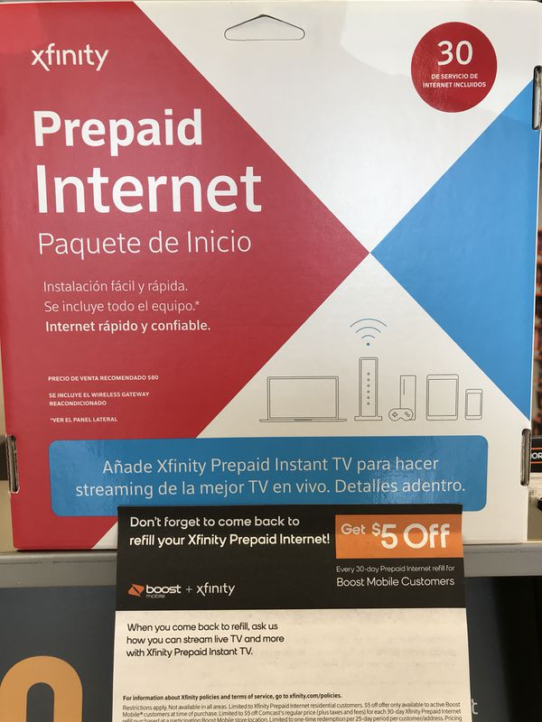 Xfinity prepaid for only $80 for Sale in Fort Myers, FL - OfferUp