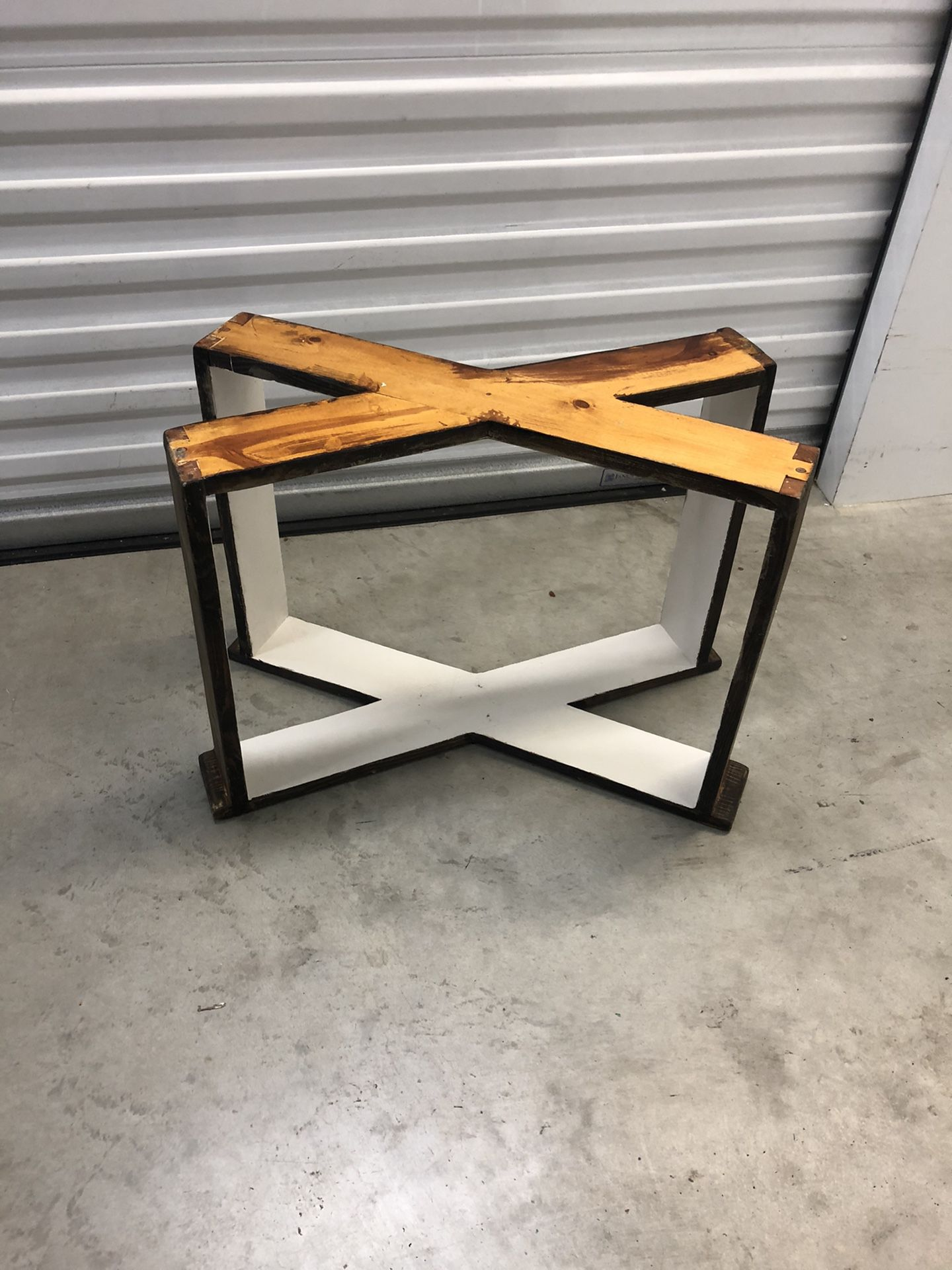 RUSTIC WOODEN TABLE BADE FOR GLASS TOP