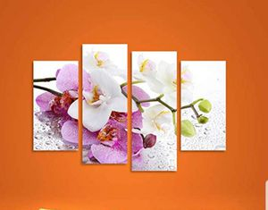 Large Framed Paintings on Canvas 4 Panels White Orchid Flowers  New for Sale in Silver Spring, MD