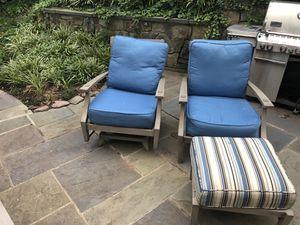 SUMMER CLASSICS w/ sunbrella cushions - CROQUET - Lounge Chair, Spring Lounge and Ottoman for Sale in Alexandria, VA