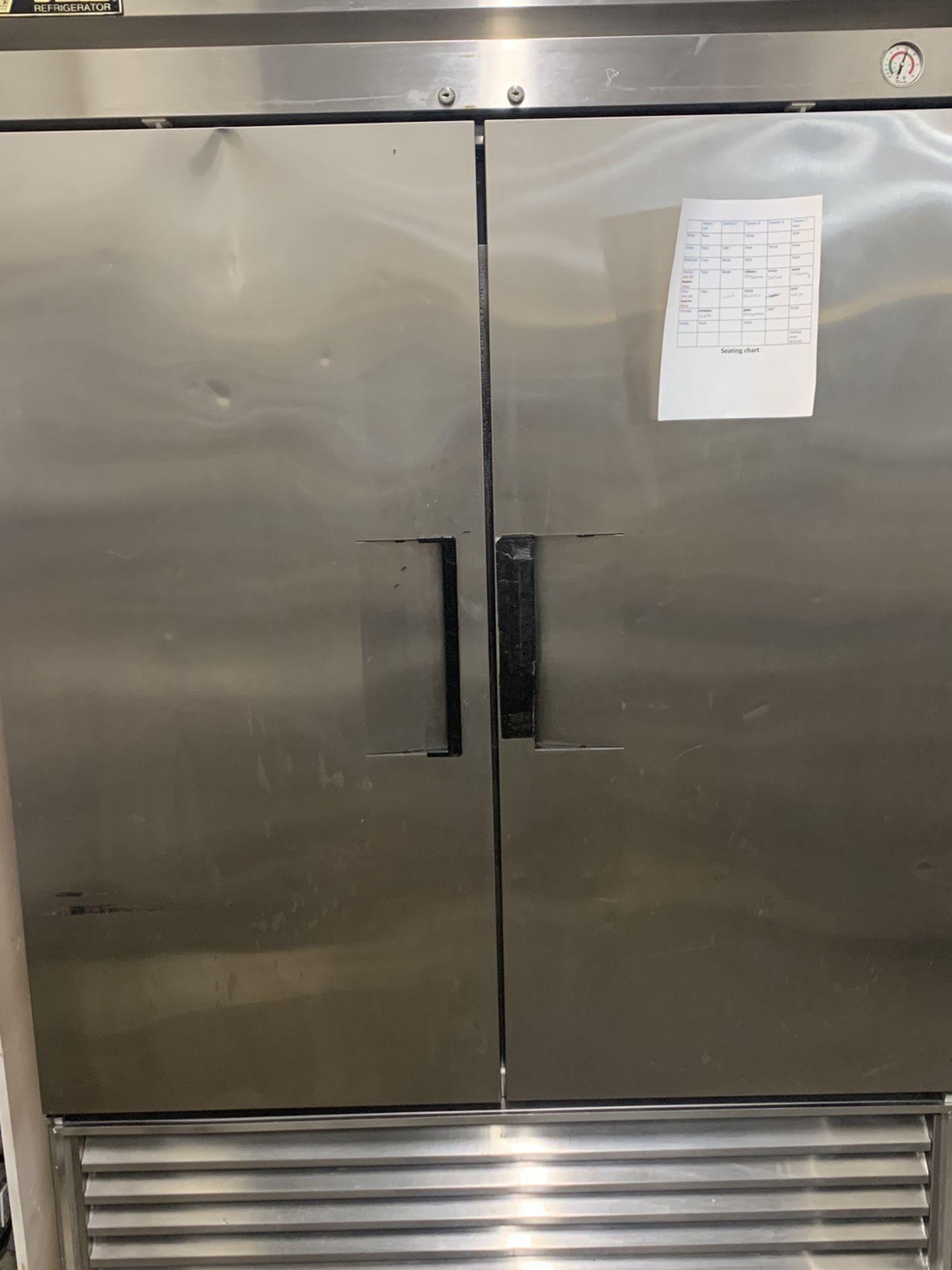 True Reach In Refrigerator