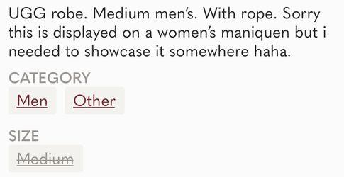 UGG Men's Size Medium Gray Color EUC Thumbnail