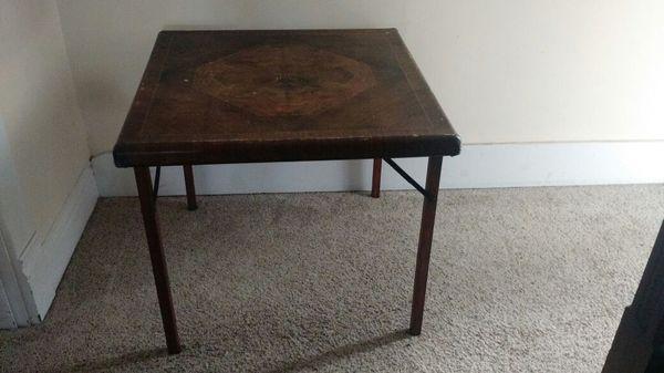Vintage Samson Wooden Folding Card Table
