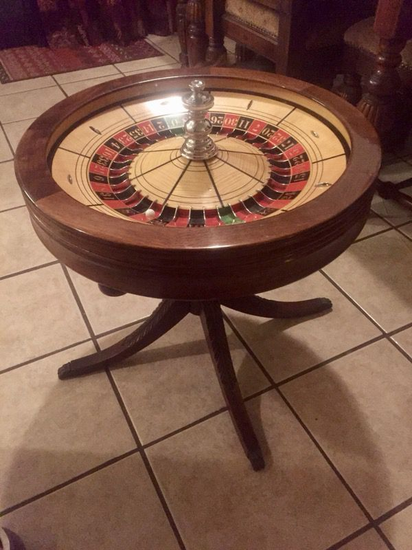 Vintage Roulette Wheel By Benteler Sons 1941 With 1950 Duncan Phyfe Legs For In Peoria Az Offerup