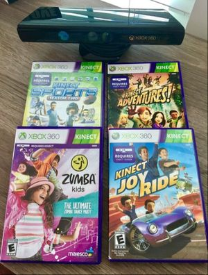 XBOX 360 Kinect & 4 Games for Sale in Elkridge, MD