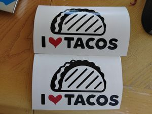I love tacos stickers 2 for $5 for Sale in San Francisco, CA