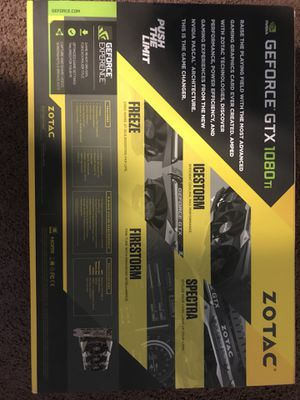 Brand new sealed zotac amp extreme core edition gtx 1080 ti graphics card  gtx 1080ti for Sale in City of Industry, CA - OfferUp