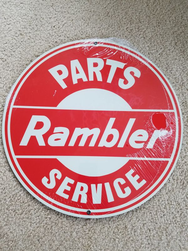 Car Dealerships Vancouver Wa >> Amc rambler car parts service steel metal sign for Sale in ...