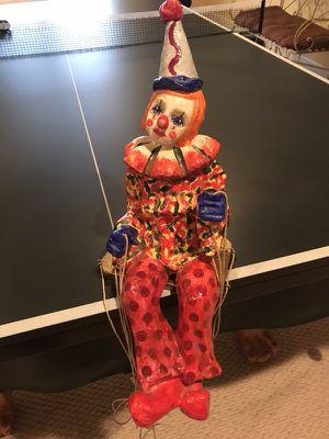 Clown Artwork Papier Machet signed by Raoul for Sale in Lorton, VA