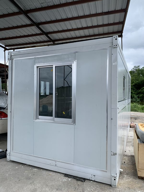 Portable office trailer foldable container tiny house ...