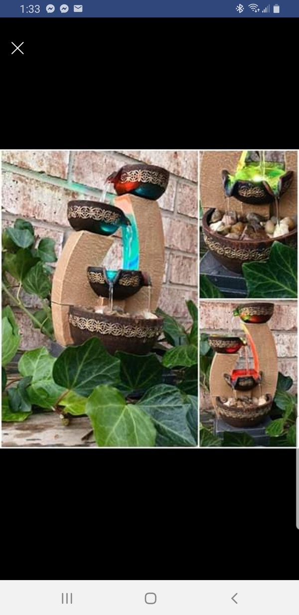 Gold Tiered Color Changing Led Fountain For Sale In