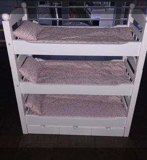 Lovely, 3 decker, 18 in, doll bed for Sale in Portland, OR