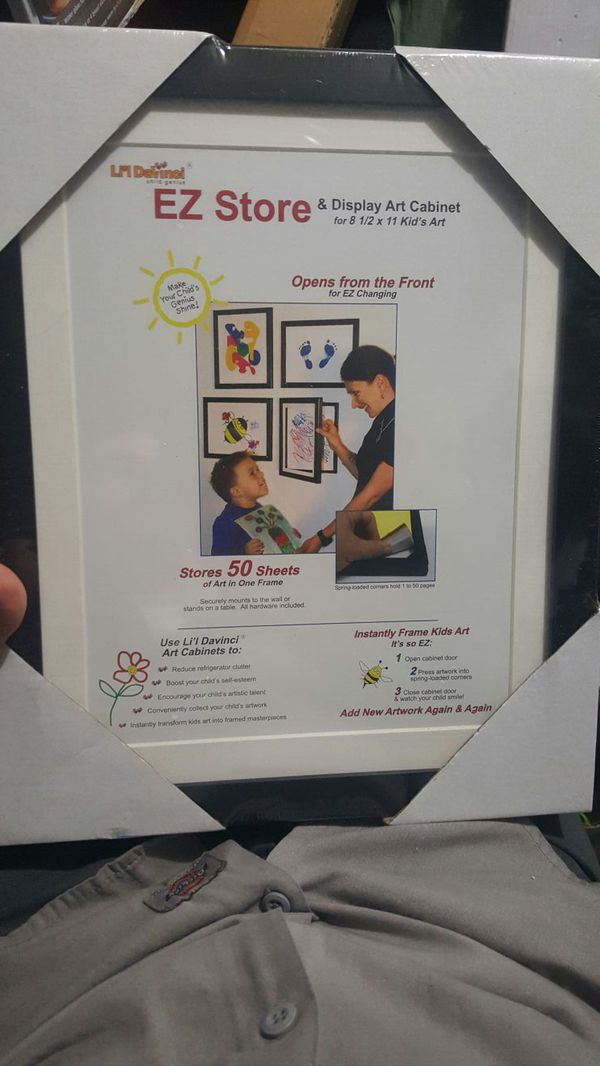 Child Artwork Frame - Display Cabinet Frames And Stores Your Child\'s ...