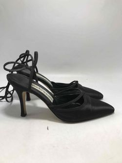 Manolo Blahnik Satin Heels - Size 37 Thumbnail