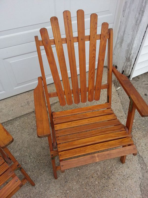 vintage 1940 s watling wooden folding deck chairs for sale in