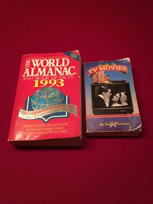 1993 World Almanac & TV Movie Guide for Sale in North Olmsted, OH