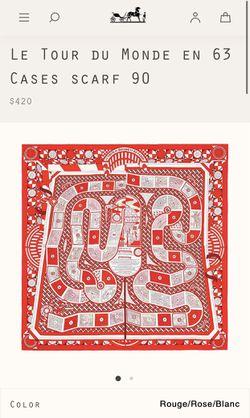 Hermès Le Tour Du Monde Silk Scarf / Artwork Thumbnail