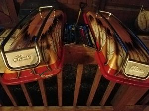 Harley Davidson saddle bag lids & stock mirrors for Sale in Richmond, VA