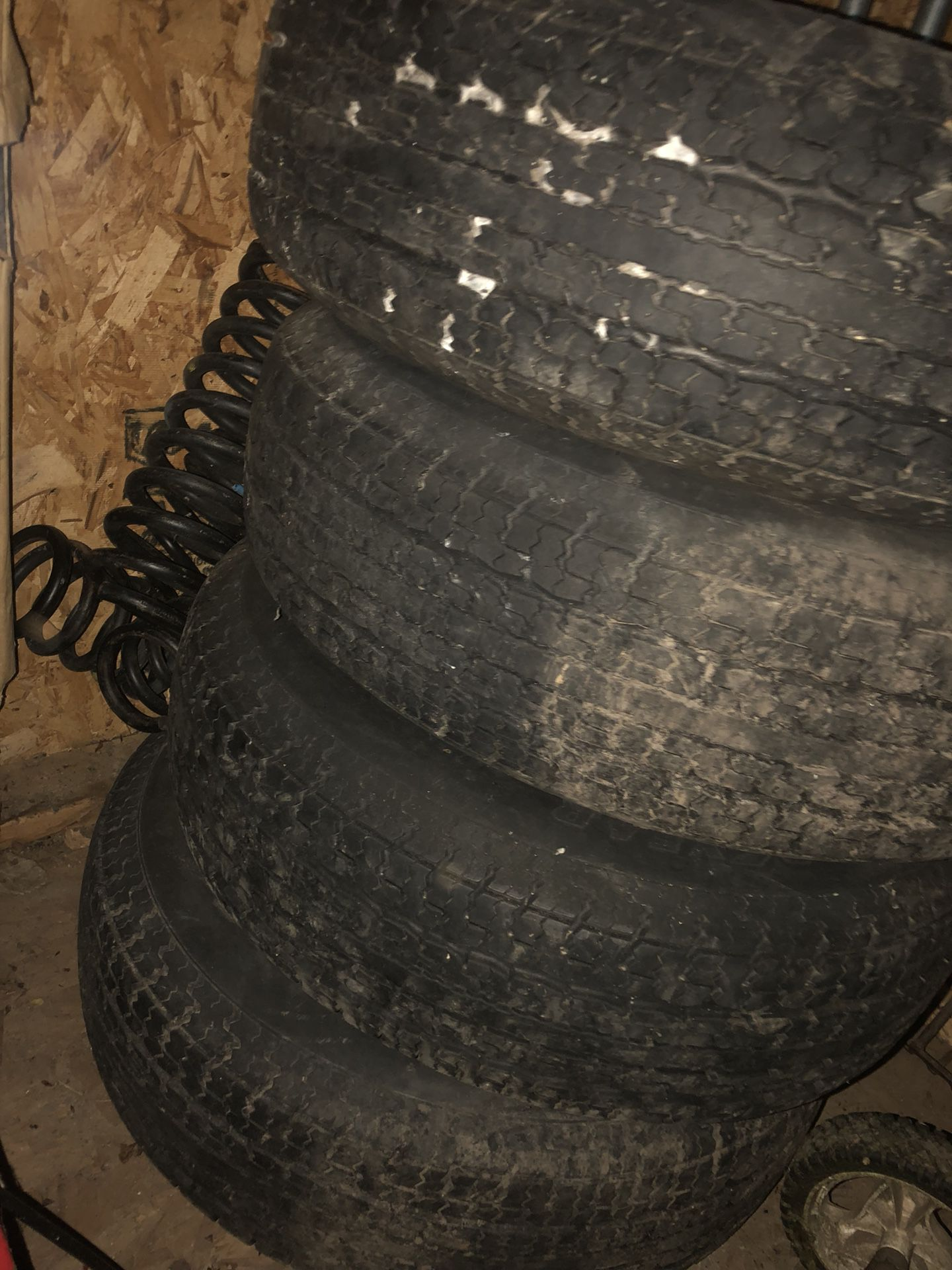 Small five lug trailer tires and rims