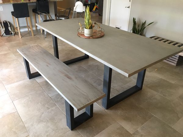 Potato Barn Wood Dining Room Table and matching Bench for Sale in ...