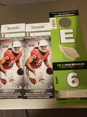 Cardinals vs Broncos for Sale in Goodyear, AZ