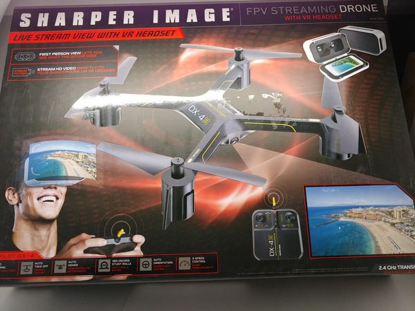 Sharper Image Fpv Streaming Drone With Vr Headset For Sale In