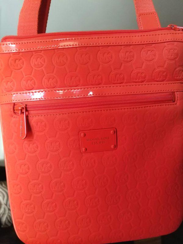 MICHAEL KORS Monogram Neoprene Crossbody Bag for Sale in ... 524470f78ba13