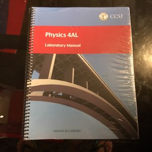Physics lab book new for Sale in San Francisco, CA