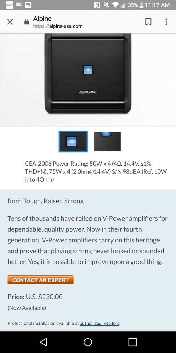 alpine 4channel amp for Sale in San Jose, CA - OfferUp