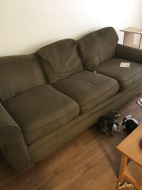 Dark Green Sofa Furniture In Baytown Tx Offerup