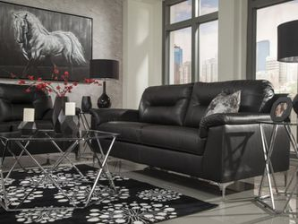 ‼ASHLEY ‼[SPECIAL] Tensas Black Living Room Set Thumbnail