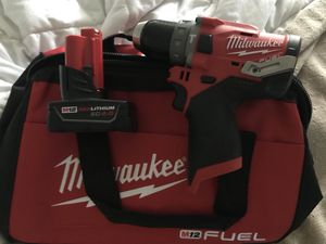 Milwaukee M12 Brushless FUEL Hammer Drill Driver (2504-20) w/ 4.0Ah battery for Sale in Fairfax, VA